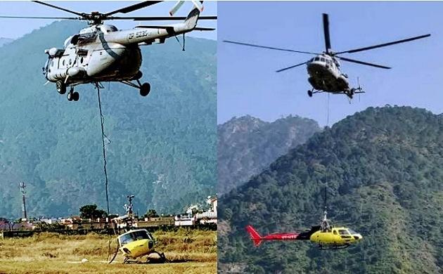Uttarakhand: Indian Air Force का कारनामा, दुर्घटनाग्रस्त हैलीकॉप्टर को Mi-17 से बांध 11500 फीट की ऊंचाई से नीचे उतारा