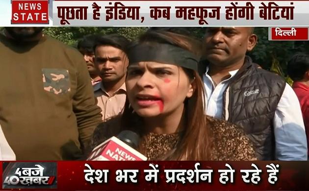 Delhi: बेटियों की सुरक्षा पर सड़क से लेकर संसद तक हंगामा, देखिए कैसे फूटा देश की बेटियों का गुस्सा
