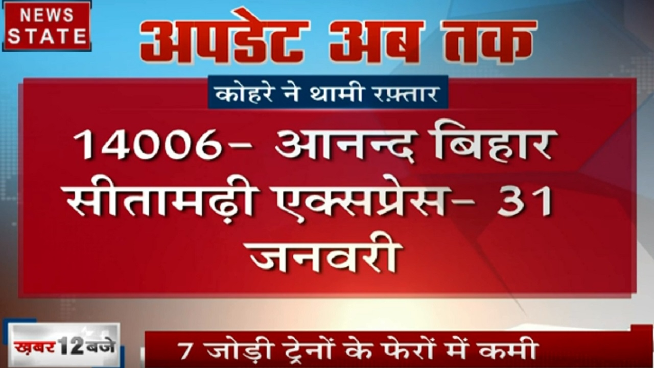Uttar pradesh: कोहरे को देखते हुए कुछ ट्रेनों को किया गया रद्द, देखें वीडियो