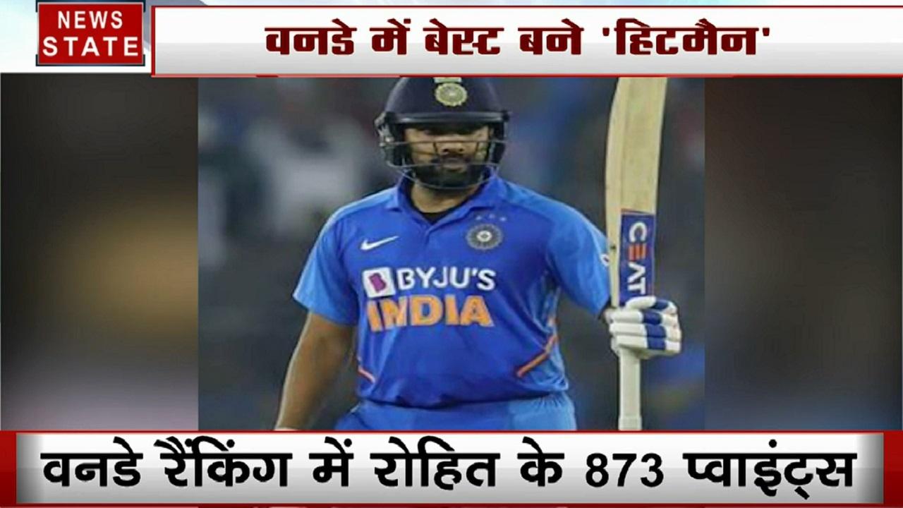 ICC ODI Ranking : विराट कोहली नंबर वन, रोहित शर्मा दूसरे नंबर पर काबिज