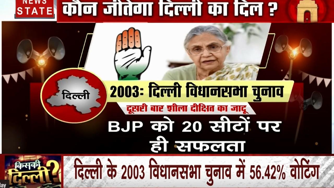शीला दीक्षित के विकास के नारे के आगे कैसे बीजेपी हुई फेल, देखें 2003 दिल्ली विधानसभा चुनाव की कहानी