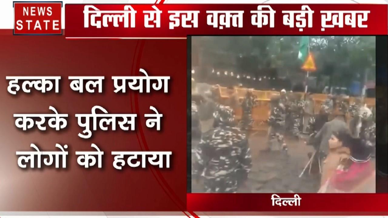 दिल्ली के तुर्कमान गेट पर CAA के खिलाफ धरना, सड़क जाम करने की कोशिश कर रहे थे छात्र