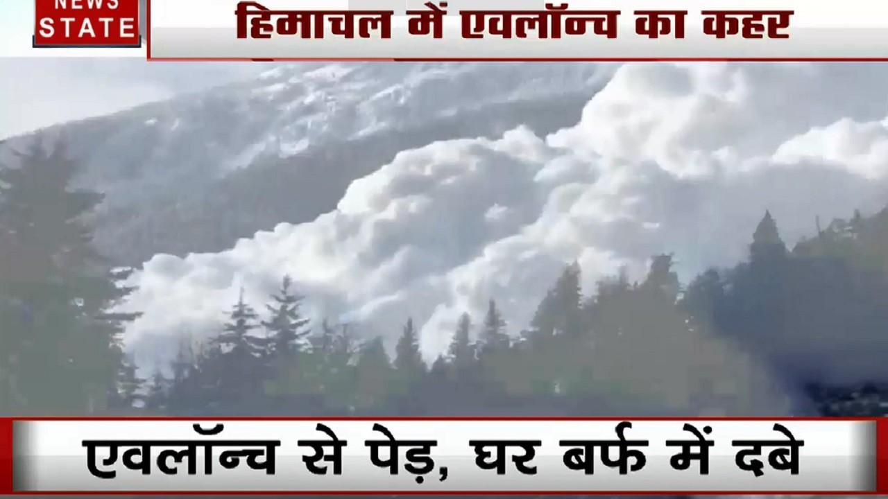 हिमाचल प्रदेश में एवलॉन्च का कहर, बर्फीले बवंडर के नीचे दबे पहाड़ और घर, दहशत में लोग