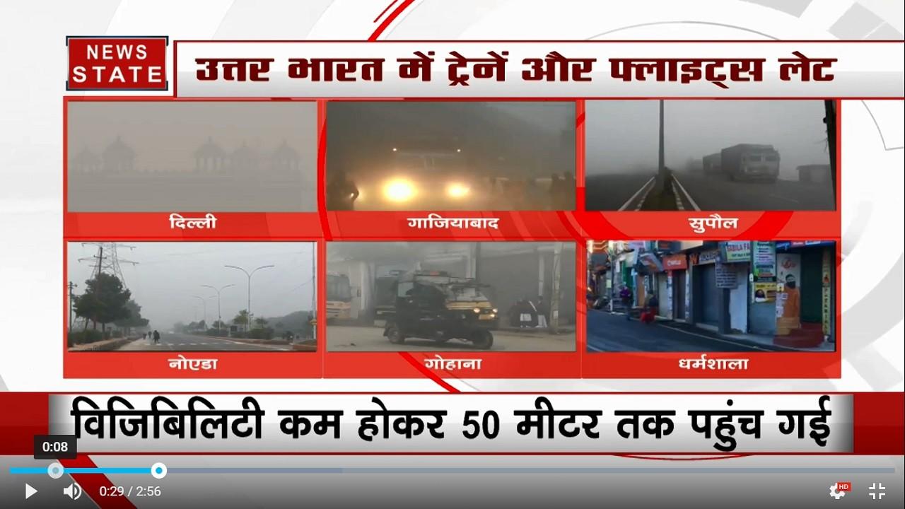 शीतलहर के कारण दिल्ली में बढ़ी ठंड, नोएडा- गाजियाबाद में घना कोहरा, 7 डिग्री पहुंचा तापमान