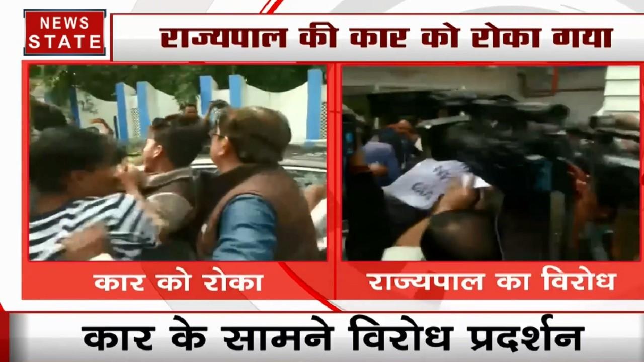 कोलकाता यूनिवर्सिटी में दीक्षांत समारोह से पहले हंगामा, छात्रों ने राज्यपाल की कार को रोका, जताया विरोध