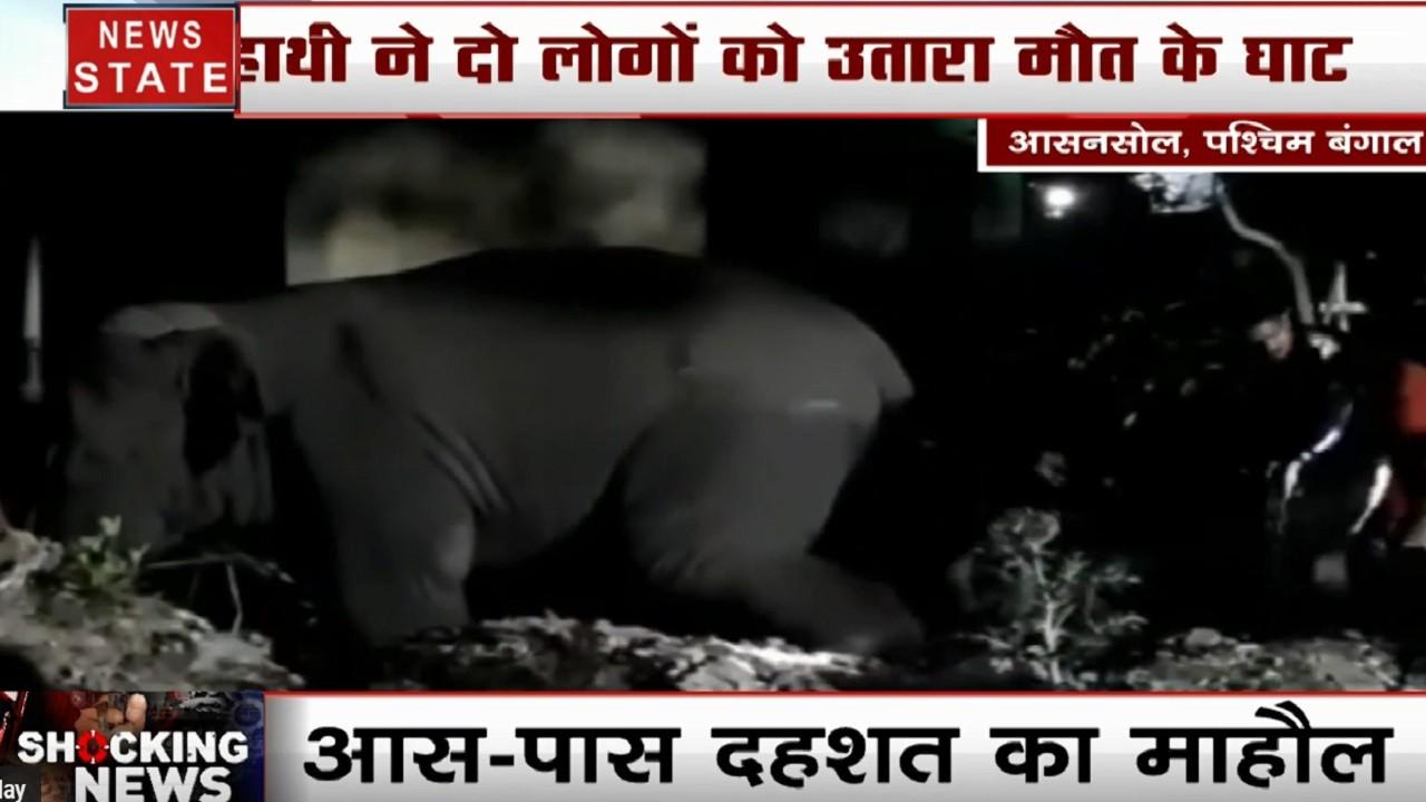 पश्चिम बंगाल के आसनसोल में हाथी ने 2 लोगों को कुचला, खौफनाक घटना के बाद इलाके में बना दहशत का माहौल