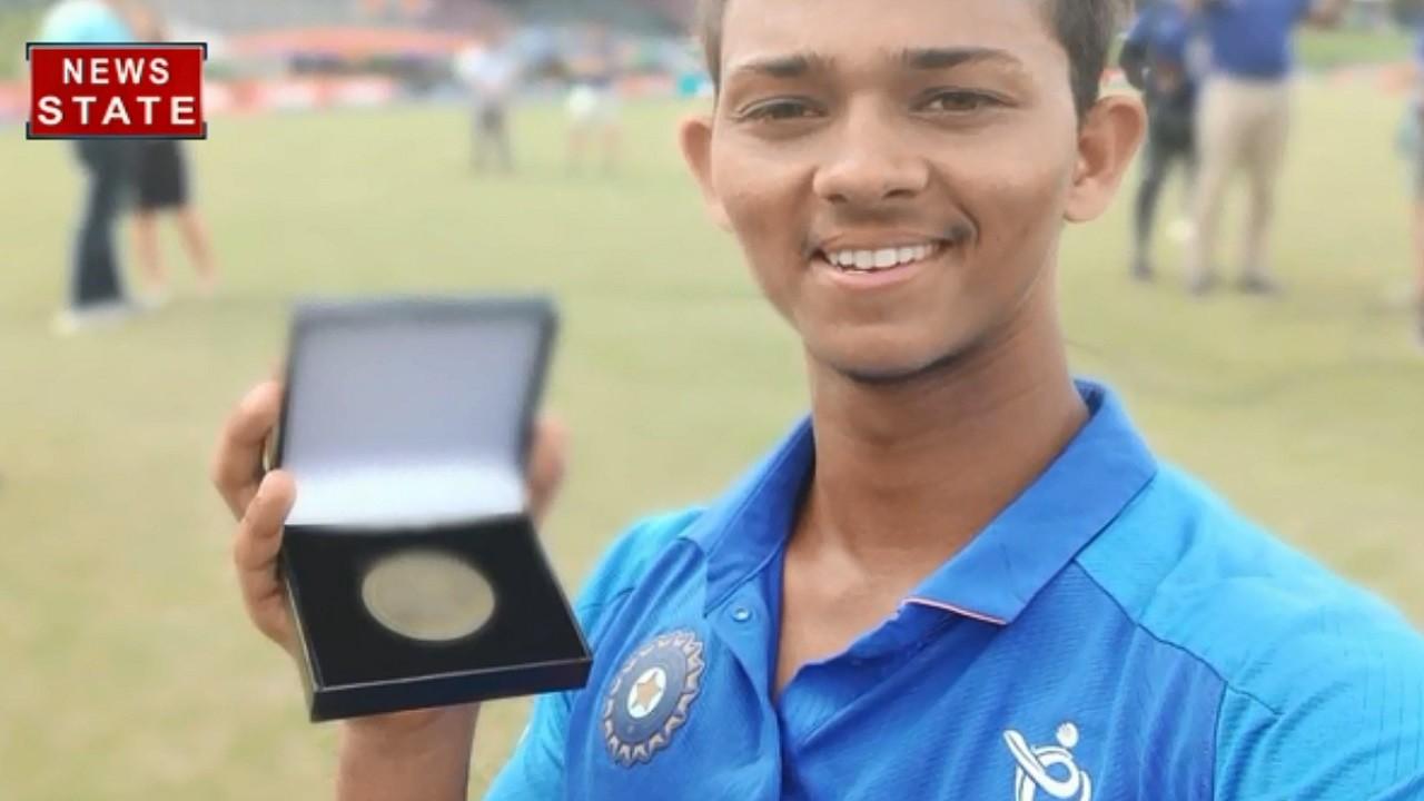 टीम इंडिया के 19 साल के खिलाड़ी की दस्तक, मैन ऑफ द सीरिज से चमके यशस्वी जयसवाल