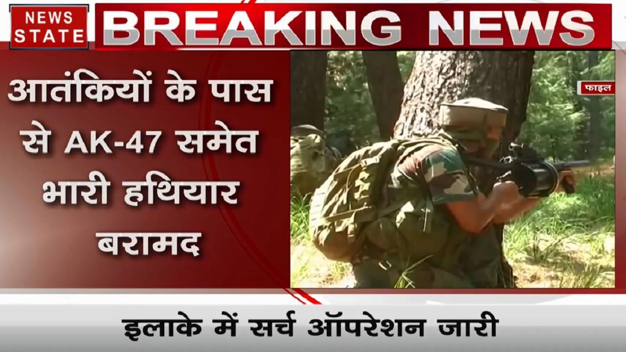 जम्मू कश्मीर के त्राल में 3 आतंकी ढेर, AK-47 समेत भारी हथियार सुरक्षाबलों ने किए बरामद